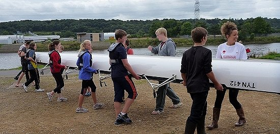 Junior learn to row 20-08-13 - click for larger image